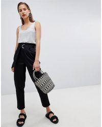 Pieces - Paper-bag Waist Trouser - Lyst