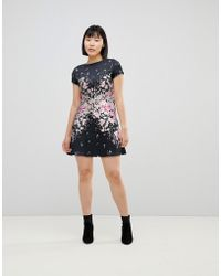 2654488bc97521 River Island Floral Embellished Mini Dress in Pink - Lyst