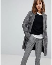 Stradivarius - Check Tailored Coat - Lyst