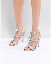 ASOS - Vikki Embellished Heeled Sandals - Lyst
