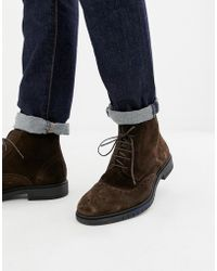 77bf441e5eb556 Lyst - Tommy Hilfiger Metro Suede Brogue Chelsea Boots in Blue for Men