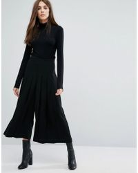 Warehouse - Pleated Culottes - Lyst