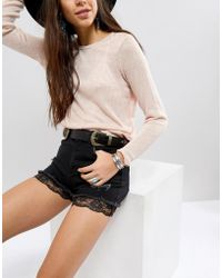 ASOS - Double Buckle Embroidered Waist And Hip Belt - Lyst