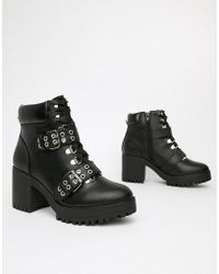 4c6a82bf76d Lyst - Dune Navern Pointed Wedge Ankle Boots in Black