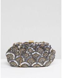 Park Lane - Handmade Embellished Structured Clutch Bag - Lyst