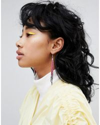 Pieces - Beaded Tassle Earring - Lyst