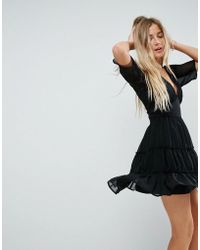 ASOS DESIGN - Asos Soft Mini Dress With Tiers - Lyst