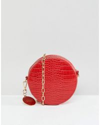 Faith - Circle Cross Body Bag With Chain Strap - Lyst