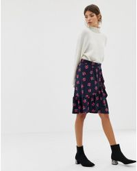 Y.A.S - Yas Floral Wrap Skirt With Frill Hem - Lyst