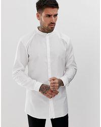 HUGO Белая Рубашка Со Скрытой Планкой И Воротником На Пуговице Ertis - Белый