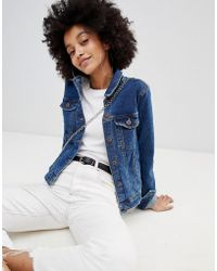 Bershka - Minimal Denim Jacket - Lyst