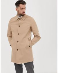 ASOS - Shower Resistant Single Breasted Trench In Stone - Lyst