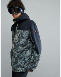 Quiksilver - Mission Block Ski Jacket In Anicamo - Lyst