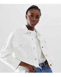 Weekday - Denim Jacket In White - Lyst