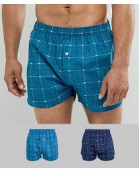 Lacoste - Authetics Woven Boxers 2 Pack - Lyst