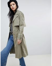 Soaked In Luxury - Cupro Trench Coat - Lyst