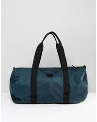 ASOS - Barrel Bag In Green Satin Look - Lyst