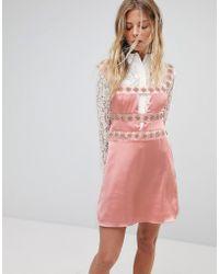 For Love & Lemons - Opal Embellished Mini Dress - Lyst
