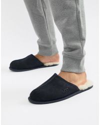 UGG - Scuff Slippers In Navy Suede - Lyst