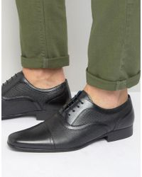 Red Tape - Etched Lace Up Smart Shoes - Black - Lyst
