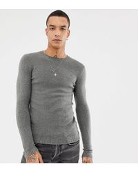Heart & Dagger - Jumper With Logo In Charcoal - Lyst