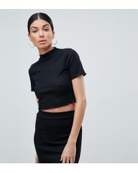 Missguided - Lettuce Hem Crop Top - Lyst