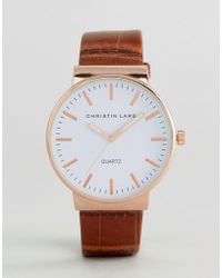 Christin Lars - Tan Strap Watch - Lyst