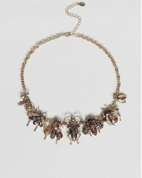ALDO - Embellished Bug Necklace - Lyst