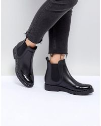 Dune - London Quark Black Leather Studded Chelsea Boots - Lyst