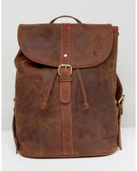 Forbes & Lewis - Leather Backpack In Vintage Leather - Lyst