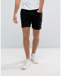 Casual Friday - Denim Shorts In Black - Lyst