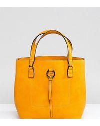 Accessorize - Yellow Double Handle Bucket Bag - Lyst