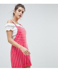 Reclaimed (vintage) - Inspired Stripe Playsuit - Lyst