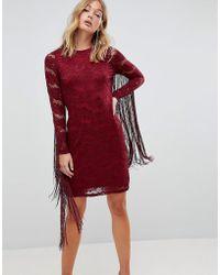 Forever Unique - Lace Dress With Tassle Detail - Lyst