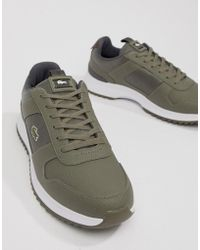 Lacoste - Joggeur 2.0 318 1 Runner Trainers In Khaki - Lyst