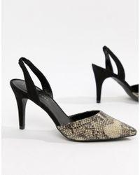 New Look - Snake Slingback Heel - Lyst