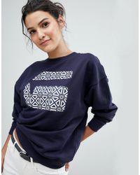 G-Star RAW - Print G Logo Sweatshirt - Lyst