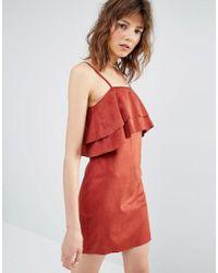 Mango - Ruffle Cami Dress - Lyst