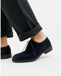 Tommy Hilfiger - Flexible Dressy Brogue Suede Shoes In Navy - Lyst