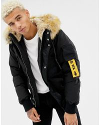 DIESEL - W-burke Faux Fur Hooded Puffer Jacket - Lyst