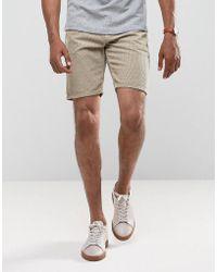 ASOS DESIGN - Asos Cord Shorts In Stone - Lyst