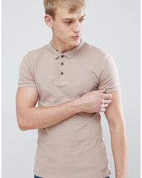 New Look - Muscle Fit Polo Shirt In Dusty Pink - Lyst