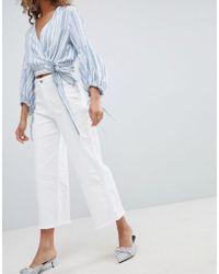 Miss Selfridge - Wide Leg Cropped Jeans - Lyst