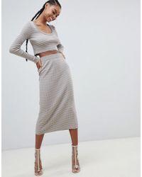 ASOS - Co-ord Knitted Skirt In Stripe - Lyst