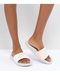 Nike - Benassi Slider Sandals In Pink - Lyst