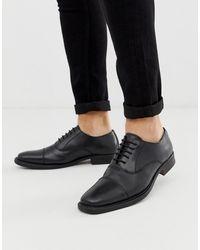 Redfoot Черные Кожаные Туфли На Толстой Подошве - Черный