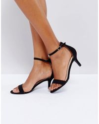 Glamorous - Barely There Kitten Heeled Sandals - Lyst