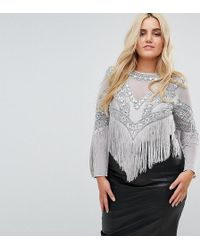 A Star Is Born - Going Out Embellished Bodysuit - Lyst
