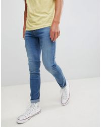 Lee Jeans - Jeans Malone Skinny Jeans In Fresh Used Blue - Lyst