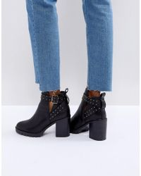 Miss Kg | Taffy Studded Heeled Ankle Boots | Lyst